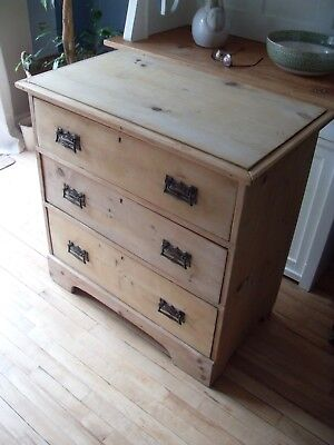 Antique old pine chest of drawers Victorian stripped / rustic / shabby chic