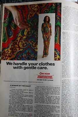 vintage magazine ad advertising  print 1972 MARTINIZING PSYCHEDELIC DRY CLEANER