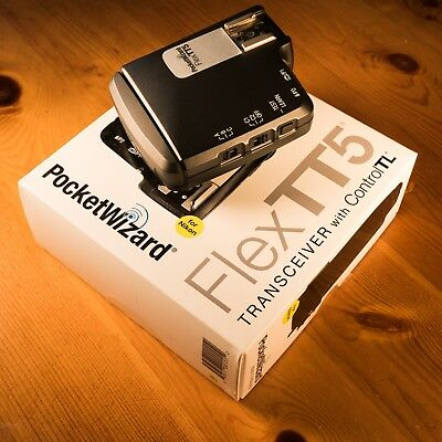 Great Condition PocketWizard FlexTT5 Transceiver For Nikon TTL Flashes
