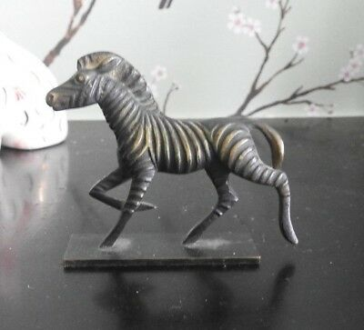 Antique Miniature Bronze Zebra Marked Made In Austria And Backstamped