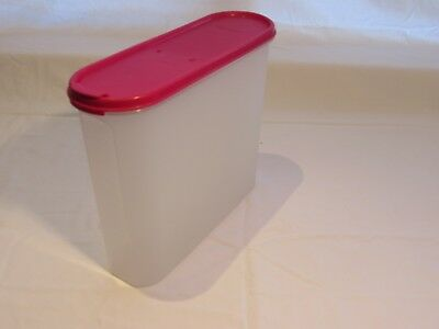 Vintage Tupperware - Red lid Cereal Container 227mm high