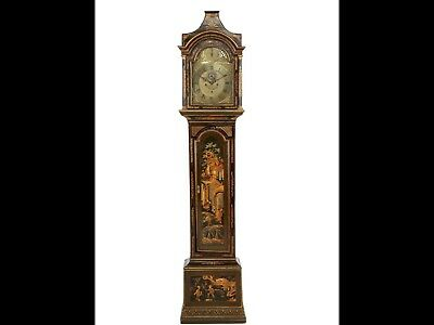 Georgian chinoiserie London Longcase Clock