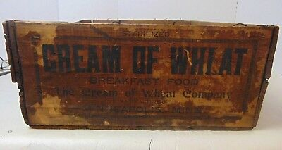 Vintage Cream of Wheat Wooden Advertising Box