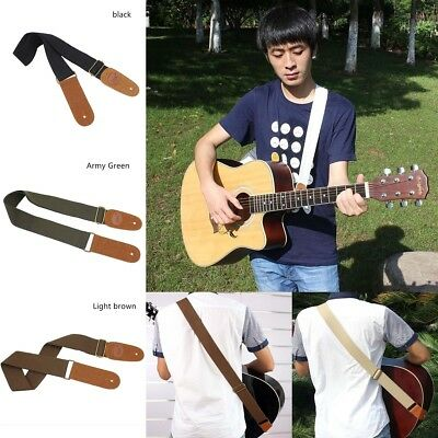 Adjustable Soft Guitar Strap Woven Belt W/Shoulder Pad F/Acoustic Electric Bass