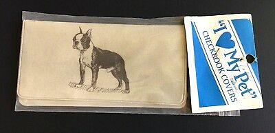 Vintage New in Package ~ BOXER Checkbook Cover ~ Boxer Dog