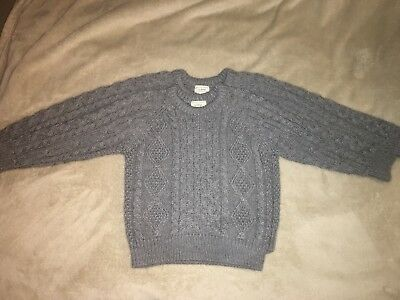 Two L.L.Bean Cable Knit Childrens Sweaters