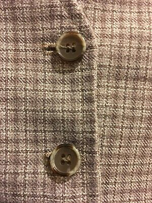 "Vintage Men's Plaid Reversible Vest Size 44"" Chest Dapper Style No Reserve!"