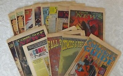 COMIC SHOP NEWS 1989 ~ 13 issues Great Condition Real Rare Find
