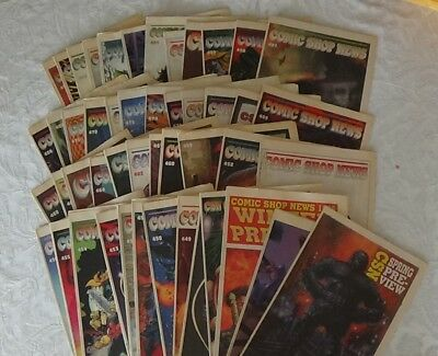 COMIC SHOP NEWS 1996 ~49 issues Great Condition Real Rare Find