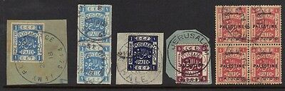 """Palestine 1918 Coll Of Early Cancels British Field P.o. """"sz44"""" """"sz45"""" Halep Used"""