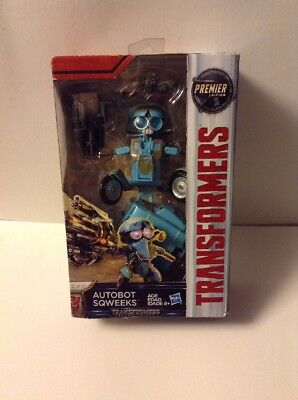 TRANSFORMERS THE LAST KNIGHT DELUXE AUTOBOT SQWEEKS PREMIER EDITION Brand New