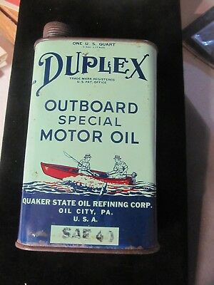 DUPLEX OUTBOARD MOTOR OIL CAN (quaker state)