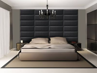 3D soft leather luxurious wall panels SALAMANDRA created by hand in Canada Black