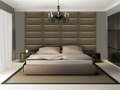 3D soft leather luxurious wall panels SALAMANDRA created by hand in Canada Brown