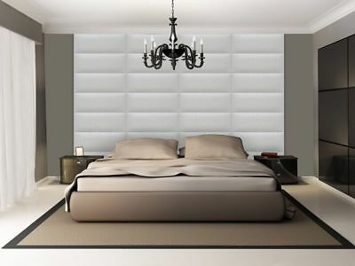 3D soft leather luxurious wall panels SALAMANDRA created by hand in Canada White