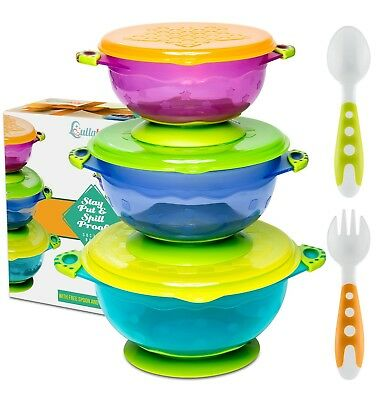 BEST SUCTION BABY BOWLS FOR TODDLERS-Toddler Bowls Baby Feeding Set with Baby...