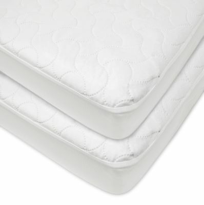 American Baby Company 2 Piece Waterproof Fitted Quilted Crib and Toddler Prot...