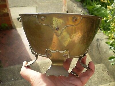 Early 1900s Brass Arts & Crafts Plant Holder