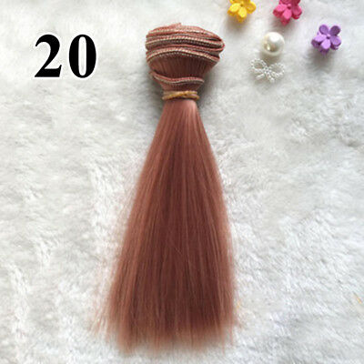 5 Synthetic hair Colors Extension Wig for Doll Hairdressing Styling Useful 2018