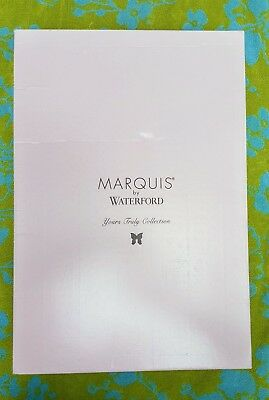 Marquis by Waterford, Yours Truly Collection, Crystal 8x10 Picture Frame, NIB