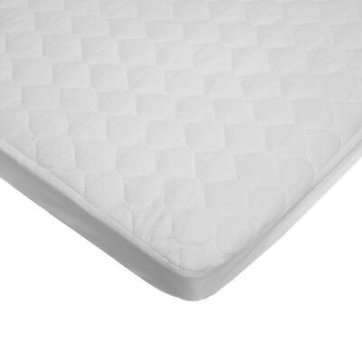 American Baby Company Waterproof Fitted Quilted Cradle Mattress Pad Cover White