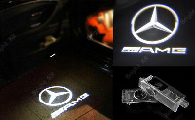 2x MERCEDES BENZ DOOR PUDDLE CREE LASER AMG COURTESY LOGO LIGHT LED PROJECTORS