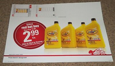 2015 LG ACE Hardware Store Encap Display Sales Sign 25x34 Pennzoil Motor Oil
