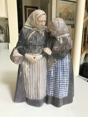 "SUPERB VINTAGE LARGE 11 3/4"" Royal Copenhagen #1319 THE GOSSIPS Figurine MINT"