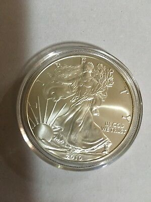 2010 American Silver Eagle Dollar - One Ounce Fine Silver - FREE SHIPPING