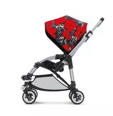 Bugaboo Bee Andy Warhol Limited Edition Rare Poppy Poppies Hood Canopy Plus 3 5
