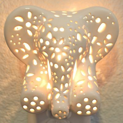 Child's Nursery Lamp/Night Light - Cotton Elephant (available in multiple ani...
