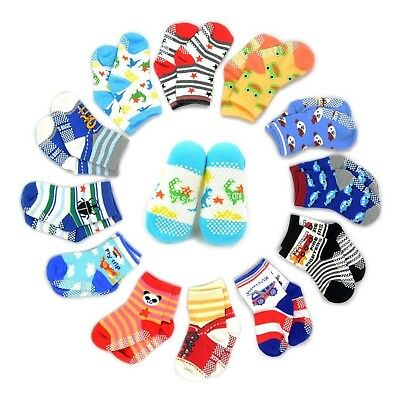 12 Pairs Anti-slip Socks Toddler Socks, Marrywindix Assorted Kids Socks Size ...