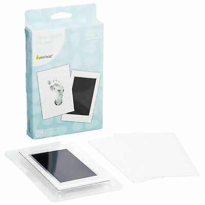 "Pearhead Newborn Baby Handprint or Footprint ""Clean-Touch"" Ink Pad, 2 Uses, B..."