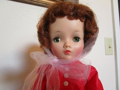 Vintage Madame Alexander Cissy Doll, Red hair, Red Tagged Dress
