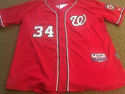 2b56562ef47 Brand New Washington Nationals Bryce Harper Majestic Jersey Mens Size 52