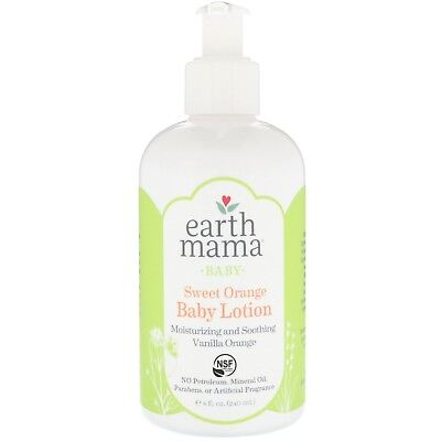 Earth Mama Baby Lotion, Sweet Orange, 8 Fluid Ounce (Pack of 3) 8 oz (240ml)