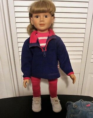"MY TWINN 23"" Doll Poseable Tagged 1999, Blonde Hair Brown Eyes, TLC"