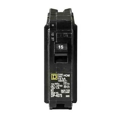 Square D by Schneider Electric HOM115CP Homeline 15 Amp Single-Pole Circuit B...