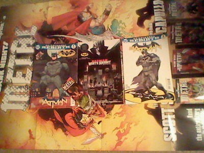 BATMAN DAY lot 2016 / 2018 DC BLACK LABEL WHITE KNIGHT lot with Metal poster