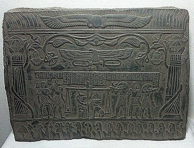 ANCIENT EGYPTIAN ANTIQUE JUDGEMENT of dead Osiris Presence Stela 1865-1632 BC