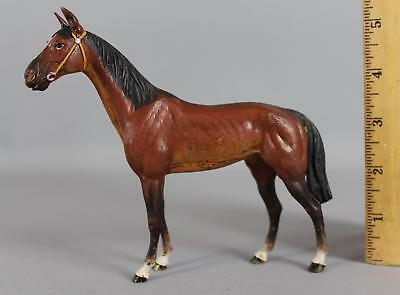 Early 20thC Polychrome Cold-Painted Miniature Austrian Bronze Thoroughbred Horse