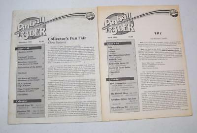 Pinball Trader Magazine 2 Issues From 1992 Free USA Shipping!