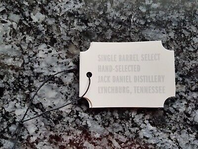 *** Jack Daniels Single Barrel Hang Tag NEU ***
