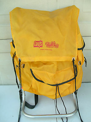 Lays Ruffles Chip Brand BackPack with external frame hiking camping