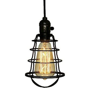 COOLWEST Mini Vintage Edison Hanging Caged Pendant Light Fixture Adjustable B...