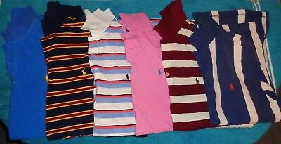 Lot of 6 Polo Ralph Lauren Men's Shirts Short Sleeve size Large L Golf Sport