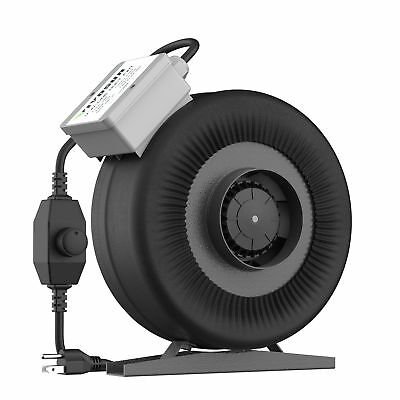 VIVOSUN 4 Inch 203 CFM Inline Duct Ventilation Fan with Variable Speed Contro...