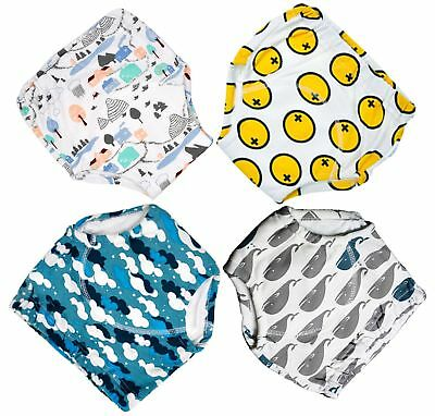 MooMoo Baby  4 Pack Potty Training Pants for Baby and Toddler Boys- 2T-M 12-24M