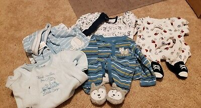 Baby Long Sleeve Footie Size 3 Months Lot Of 5