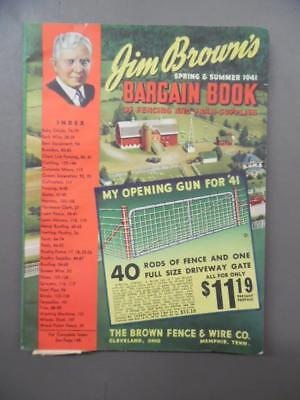 1941 Jim Brown Fence & Wire Co Bargain Book Farm Supply Catalog Workwear Vintage